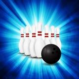 Bowlingbegrepp av sporten Arkivfoton