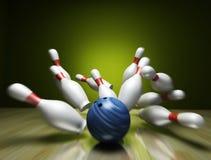 bowlingen 3d framför Royaltyfria Bilder