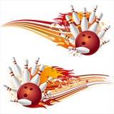 bowlingflammor Fotografering för Bildbyråer