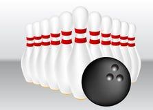 bowlingillustrationvektor Royaltyfria Foton