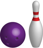 bowlingkägla Arkivbild