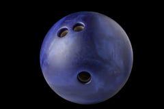 Bowlingkugel lokalisiert auf schwarzem Hintergrund Stockfoto