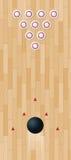bowlinglane Arkivfoto