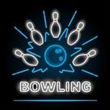 Bowlingneon suckar Illustration för vektorgemkonst Royaltyfri Foto
