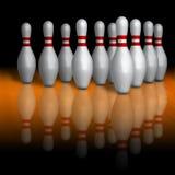 Bowlings Schüsseln stockbilder