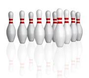 Bowlings Stifte lizenzfreies stockfoto