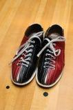 bowlingskor Arkivbild