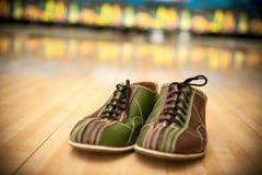 Bowlingskor Arkivfoto