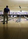 Bowlingspeler stock afbeelding