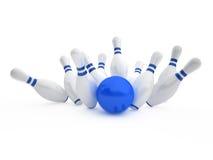 Bowlingspiel Stockfotos