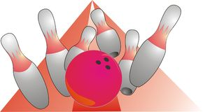 Bowlingspiel Stockbild