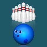bowlingspiel Lizenzfreies Stockbild