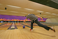 bowlingspiel Stockfotos