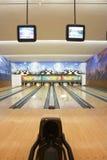 Bowlingspiel Stockfoto