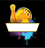 Bowlingspiel Grunge Fahne Lizenzfreies Stockfoto