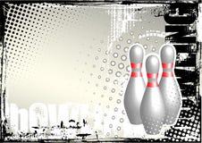Bowlingspiel grunge Plakathintergrund Lizenzfreies Stockfoto