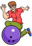 Bowlingspiel-Kerl Stockfoto