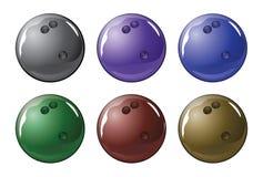 Bowlingspiel-Kugel Lizenzfreies Stockfoto