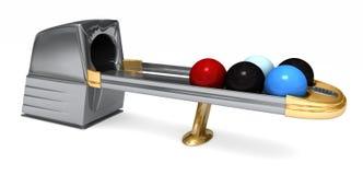 Bowlingspiel-Kugel-Rückkehr Stockfoto