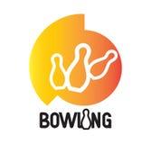 Bowlingspiel Logo Design Lizenzfreie Stockbilder