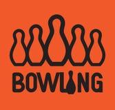Bowlingspiel Logo Design Stockbilder