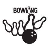 Bowlingspiel Logo Design Stockbild