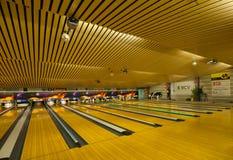 Bowlingspiel-Mitte Stockfoto