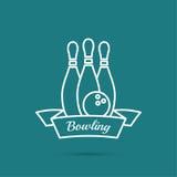 bowlingspiel Pin und Ball Stockfotografie