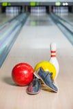 Bowlingspiel-Schuh. Stockfotografie