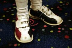 Bowlingspiel-Schuhe Lizenzfreies Stockfoto