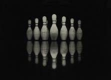 Bowlingspiel Skittles Lizenzfreie Stockbilder