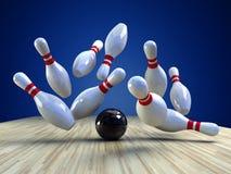 Bowlingspiel-Spiel Stockbilder