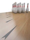 Bowlingspiel-Spiel Lizenzfreie Stockfotos