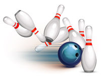 Bowlingspiel-Spiel (Seitenansicht) Stockbild