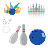 Bowlingspiel-Sport-Vektor Lizenzfreie Stockbilder