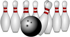 Bowlingspiel-Stifte Stockbilder