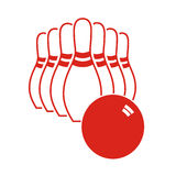Bowlingspiel-Stifte stockfoto
