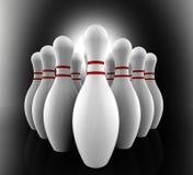 Bowlingspiel-Stiftshow-Kegel-Gasse Lizenzfreies Stockbild