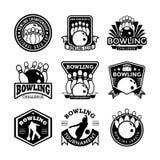 Bowlingspiel-Vektor-Ikonen 5 Stockbilder