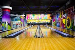 Bowlingspiel-Weg stockfotografie