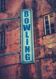 Bowlingspiel-Zeichen lizenzfreie stockfotos