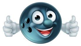 Bowlingspiel-Zeichentrickfilm-Figur lizenzfreie abbildung