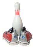 Bowlingspielausrüstung lizenzfreie stockfotos