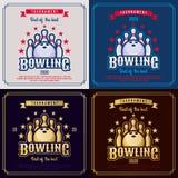 Bowlingspielemblem Lizenzfreie Stockbilder