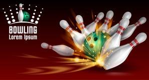Bowlingspielfahne lizenzfreie abbildung