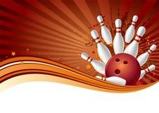 Bowlingspielhintergrund Stockfotografie