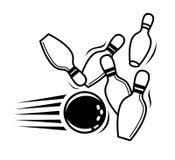 Bowlingspielikone Lizenzfreie Stockbilder
