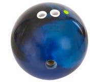 Bowlingspielkugel mit umreiß lizenzfreie stockfotos