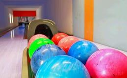 Bowlingspielkugeln Lizenzfreie Stockbilder