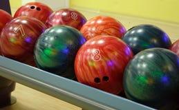Bowlingspielkugeln Lizenzfreies Stockfoto